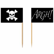 50 Pirate Flags Cocktail Sticks Pick Cupcake Sandwich Party Food Decorations