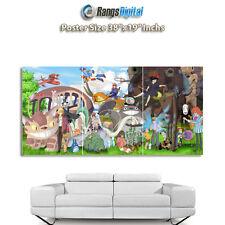 "Studio Ghibli caratteri HD FOTO POSTER rd-9036 (38 ""x19"" Pollici)"