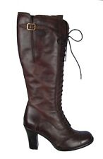 Authentic Belstaff Blackbrown Leather Laced Betty Boots Shoes EU Size 38