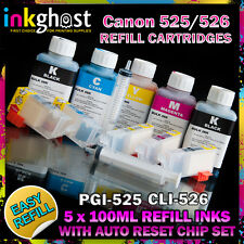 REFILLABLE CARTRIDGE SET+REFILL KIT CANON compatible IP4850 MG5150 5250