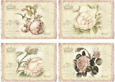 Decoupage-Bastelpapier-Softpapier-Vintage-Shabby-Rosen-12727