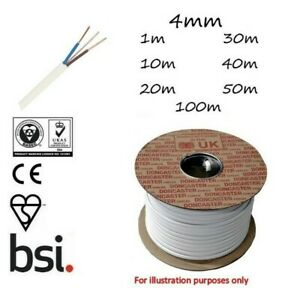 4mm Twin and Earth LSF Cable T&E White Radial Socket Circuits BASEC Approved