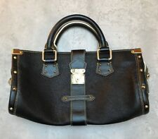 Louis Vuitton Black Suhali Leather Handbag