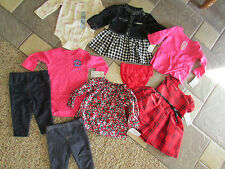 NEW LOT 11 BABY GIRL CLOTHING CARTERS GAP DRESSES TOPS SHIRTS PANTS+ 3-6M