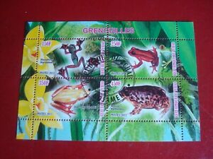 CHAD - 2011 FROGS - MINISHEET - UNMOUNTED USED MINIATURE SOUVENIR SHEET