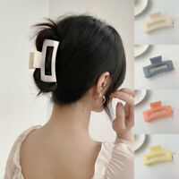 Acrylic Resin Large Hair Clip Candy Color Rectangle Hair Claw Hair Accessories