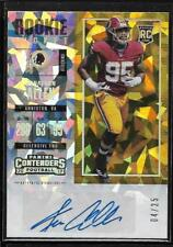 2017 Contenders Rookie Ticket Cracked Ice Jonathan Allen Auto Rc # 4/25
