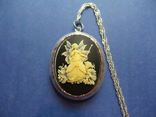 "BEAUTIFUL FAIRY GODMOTHER LOCKET 26"" CHAIN"