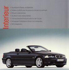 BMW 3 3er COUPE CABRIO Cabriolet M Sportpaket II E46 Prospekt Brochure 2000 17