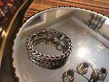 "John Hardy Naga head dragon bracelet sterling silver 9.5"""