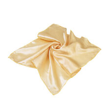 """Elegant Small Silk Feel Solid Color Satin Square Scarf 20"""" - Different Colors"""