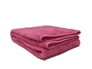 """GIANTCLEAN Microfiber Hair Wrap/Hair Towel, 19""""x37"""", Pink Color"""
