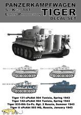 Tiger I Abziehbilder Set 1:16 - Abziehbilder aus 36203 / 84273 - Original Tamiya
