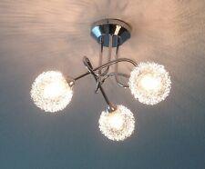 s`luce TORNADO Deckenlampe Kugelgeflecht 3-flammig Design Deckenleuchte Lampe