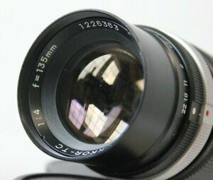 Minolta Rokkor TC 135mm f4 Telephoto Prime Lens MD/MC Mount.