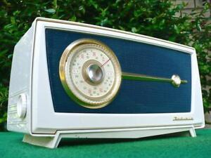 Absolutely Sensational 1950's Retro Vintage AWA RADIOLA Blue & White Valve Radio