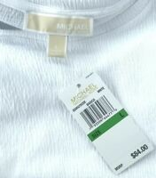 $84 MICHAEL Michael Kors L sleeveless white cotton blend sleeveless shirt top