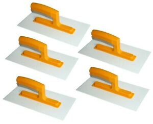 """5 x Plastic Trowel 280 x 140mm ABS 11"""" Rendering Render Texturing Top Coat Float"""