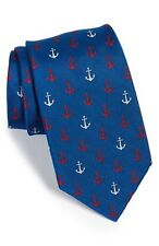 Vineyard Vines Men's Anchor Silk Tie Red $125.00 Gift Box Included
