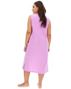"Pretty Secrets MAXI Nightie Lilac uk size 32-34 bnip Length 48"""