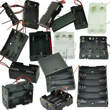 AA Battery Holder 1x/2x/3x/4x/6x/8x AA Cells Case Storage Box with Wire Leads