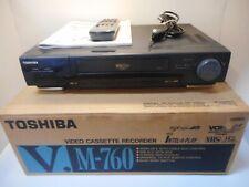 Rare TOSHIBA M-760 Six Head VHS Video Cassette Recorder VCR w/ Remote & Orig Box