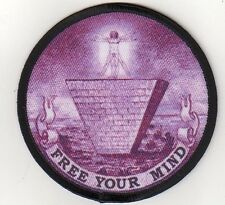 """FREE YOUR MIND""""Aufnäher""""Patch ANTI NWO/NEW WORLD ORDER"""