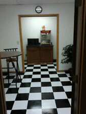 CHECKER BOARD FLOOR TILES AWESOME LOOK GARAGE OR HOME (PEEL AND STICK OR GLUE)