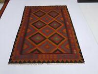 6'11 x 5'1 Handwoven Afghan Tribal Kilim Area Rug Wool Kelim Rug Carpet Rug 6306