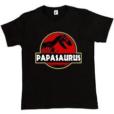 Papasauras Funny Dad Fathers Day TRex Old Dinosaur Jurassic Park Men T Shirt - M