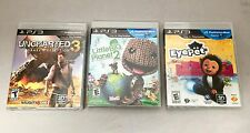 Used -  PS3 3 Game Bundle (Eyepet, Uncharted 2, Little Big Planet 2)