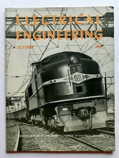 ELECTRICAL ENGINEERING 10/43 Vintage Magazine Electric Railroad Locomotive cover