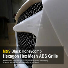 """RS Style M&S Black Honeycomb Mesh ABS Grille Custom Kit 43""""x16"""" for All Vehicle"""