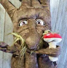 Folkmanis Enchanted Tree Hand Puppet Moving Eyes Man Forest Mustache Mushroom