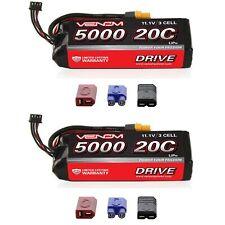 Venom 20C 3S 5000mAh 11.1V LiPo Battery with Universal Plug System x2 Packs