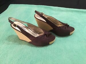 Womens Size 7 Cresst Steve Madden Brown Cork Wedges Shoes