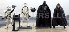 "Star Wars PotF CommTech Darth Vader & Stormtrooper Jedi Luke Sandtrooper 3.75"""