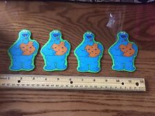 Sesame Street Cookie Monster fabric Iron On Appliqués  (style#5)