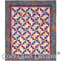 With a twist Quilt Pattern by Cozy Quilt Designs