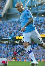 12x8 Inch SIGNED PHOTO MANCHESTER CITY HAND SIGNED By ANGELINO
