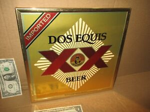 """DOS EQUIS XX - BEER SIGN - Colorful - IMPORTED - Framed 12"""" X 12"""" - LOOKS UNUSED"""