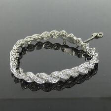 Platinum Interwoven Filigree Decorated Bracelet 8.85ct Old Mine Cut Diamond &
