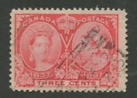 "CANADA #53 USED JUBILEE SQUARED CIRCLE CANCEL ""STE. CUNEGONDE"""