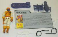 1991 GI Joe Cobra Trooper Snow Serpent v2 Figure w/ File Card *Near Complete