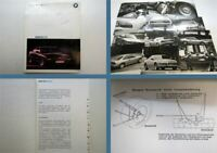 BMW 850i Pressemappe Presseinformation +  Fotos 1989