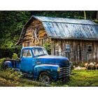 Diamond Painting Full Drill Forest Cabin and Blue Car Cross Stitch Home Decor