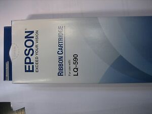 Epson Twinpack Black S015337 LQ-590 Ink Ribbon Original LQ590 New Boxed