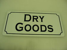 DRY GOODS Vintage Style Metal Tin Sign 4 Candy Shop General Store Bakery Donut
