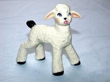 Lovely Vintage Whimsical Baby Lamb Sheep Porcelain Figurine