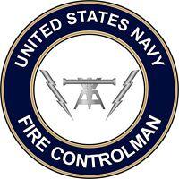 """Decal Fire Controlman FC 1st Class E-6 Gold 5.5/"""" Rank Sticker"""